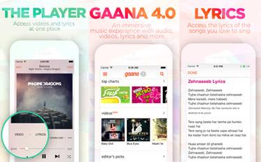Gaana 4 0 app features music videos, lyrics