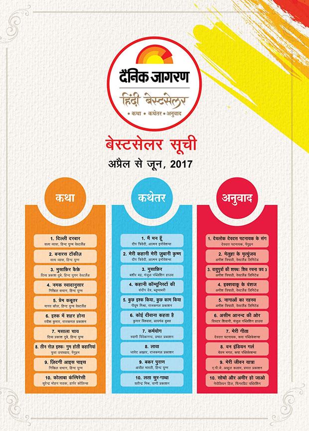 Dainik Jagran announces its first list of Hindi Bestsellers