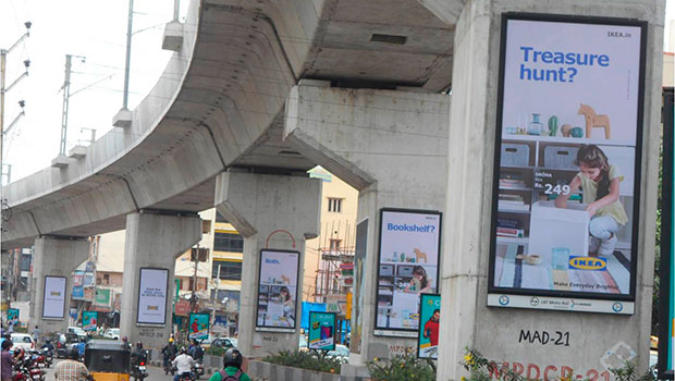 Kinetic paints Hyderabad with Ikea's OOH ads